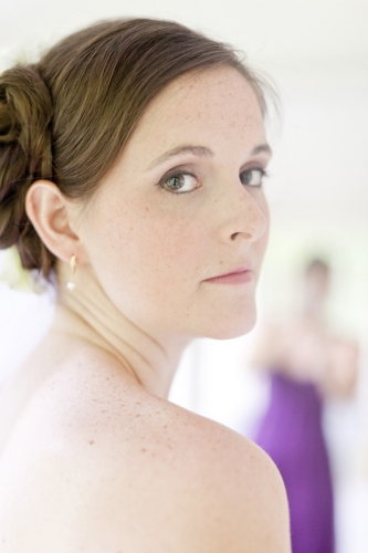 Bridal makeup freckles